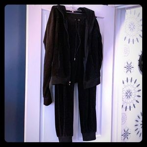 Juicy Couture Black Velour Jumpsuit